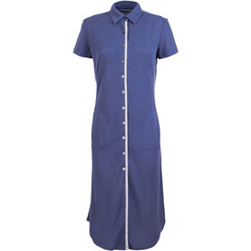 super.natural Waterfront Piquet Vestido Mujer, stone blue/antique white